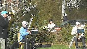 Open-Air-Gottesdienst mit Posaunenchor und P. T. Drömann